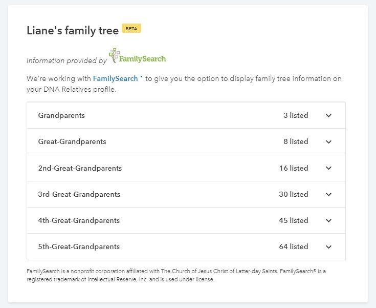 FamilySearch at 23andMe